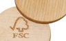Trolley coin made of FSc-certified wood, a perfect promotional gift.